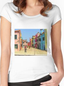 Vacation Photographer Women's Fitted Scoop T-Shirt