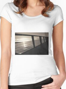 Sunrise On Pier Women's Fitted Scoop T-Shirt