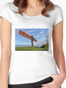 Angel of the North Women's Fitted Scoop T-Shirt