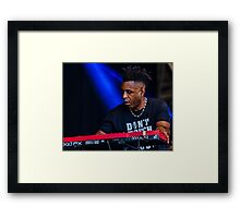 Omar works up a sweat at Love Supreme, 2015 Framed Print