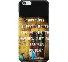 RIDE MY BIKE iPhone Case/Skin