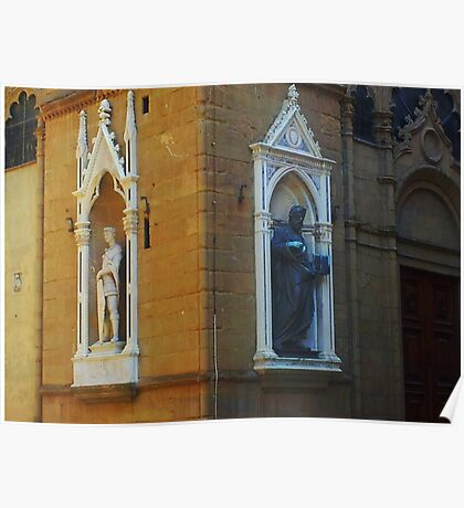 Florence Street Statues Poster