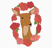 Deer in a Rose Ring - Red Unisex T-Shirt