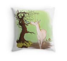 Little Wings, Golden Horn Throw Pillow