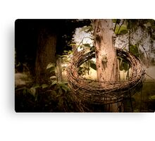 Once Mended Fence Canvas Print