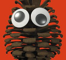 Googly-Eyed Pinecone by browntimmy