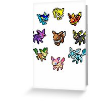 Pixel Eeveelutions Greeting Card