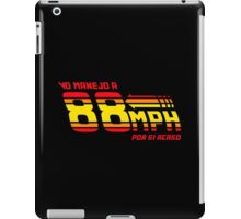 88 miles per hour iPad Case/Skin