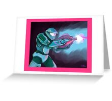 Master Chief with Needler Greeting Card
