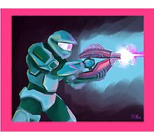 Master Chief with Needler Photographic Print