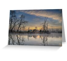 Dawn on the Snohomish Greeting Card