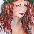 Redhead with Green Hat by Reynaldo