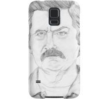 Ron Swanson Pencil Portrait Samsung Galaxy Case/Skin