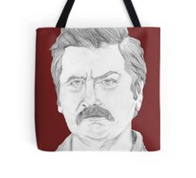 Ron Swanson Pencil Portrait Tote Bag