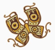 Butterfly Brown One Piece - Short Sleeve