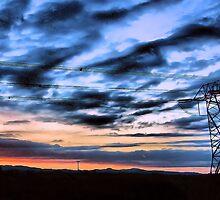 Powerline Sunset by jeanniechris