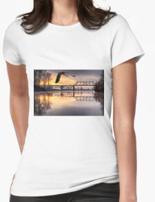 Dawn on the Snohomish Womens Fitted T-Shirt