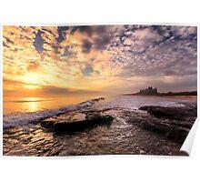 Bamburgh Castle Sunrise Poster