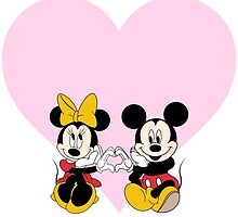 Mickey & Minnie Heart by AngieBee