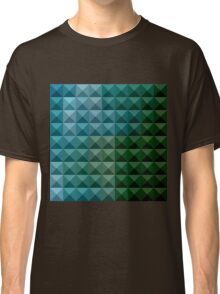 Dark Spring Green Abstract Low Polygon Background Classic T-Shirt