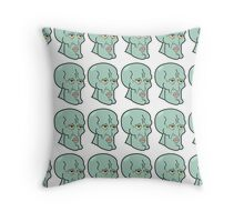 Handsome Squidward Grid Throw Pillow