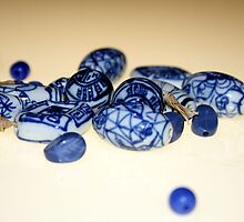 Blue & white beads 2 by Fizzgig7