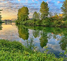 Dawn on the Snohomish by CPAULFELL