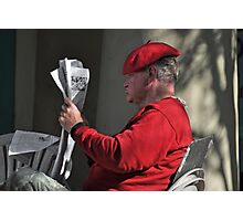 Man w/ Red Beret  New Orleans Louisiana Photographic Print