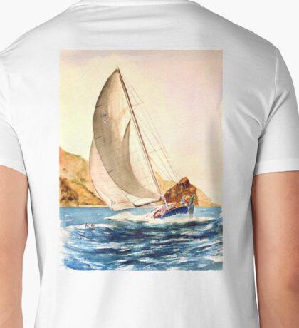 HULL DOWN off Catalina ( At Sundown) Mens V-Neck T-Shirt