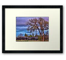 Rural Train Yard Framed Print