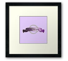 Asexual Banner Framed Print