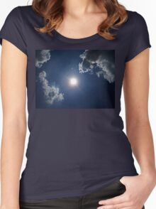 ©TSS The Sun Series LXII Halo IA. Women's Fitted Scoop T-Shirt
