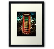 Vintage British Phone Booth Framed Print