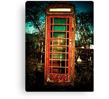Vintage British Phone Booth Canvas Print