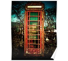 Vintage British Phone Booth Poster