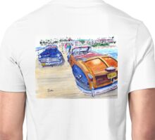 48' Town & Country Chrysler Woody On The Pier Unisex T-Shirt