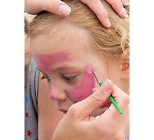 Face Painting 1 Photographic Print