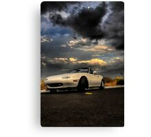 Mazda Miata, waiting for the storm (HDR) Canvas Print