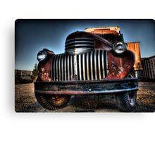 Old orange truck HDR Canvas Print