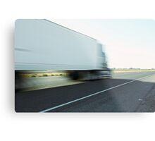 Semi truck speeding  Metal Print
