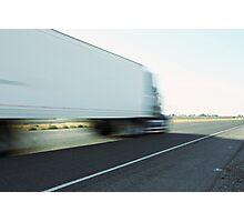 Semi truck speeding  Photographic Print