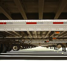 Clear view under semi trailers by gregorydean