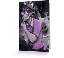 Fnaf purple shush  Greeting Card