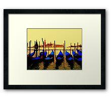 Gondolas, Venice Framed Print
