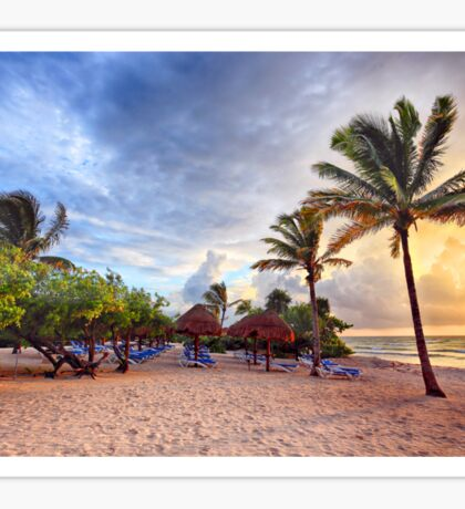 Beach Dawn Sticker