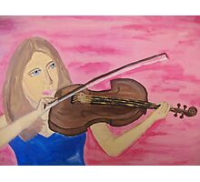 The Violinist Photographic Print