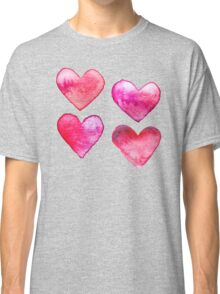Watercolour Hearts Classic T-Shirt