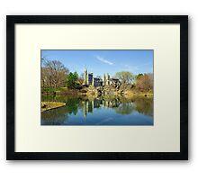 Belvedere Castle and Turtle Pond Framed Print