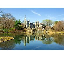 Belvedere Castle and Turtle Pond Photographic Print