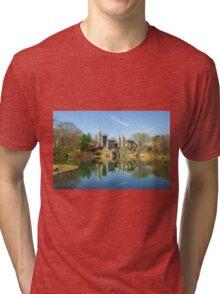 Belvedere Castle and Turtle Pond Tri-blend T-Shirt